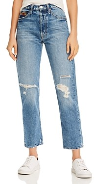 Mother The Tomcat Ankle Straight-Leg Jeans in Take Me Even Higher