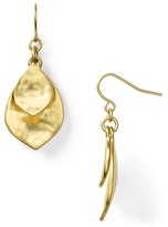 Lauren Ralph Lauren Hammered Double Teardrop Earrings