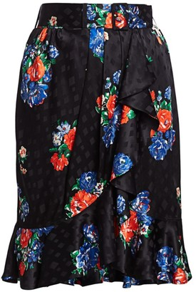 Tory Burch Floral Silk Skirt