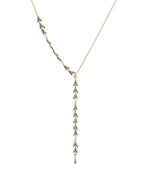 Nadri Liv Leaf Y Necklace, 18
