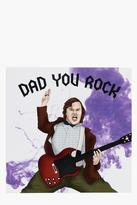Boohoo Fathers Day Card - Rock