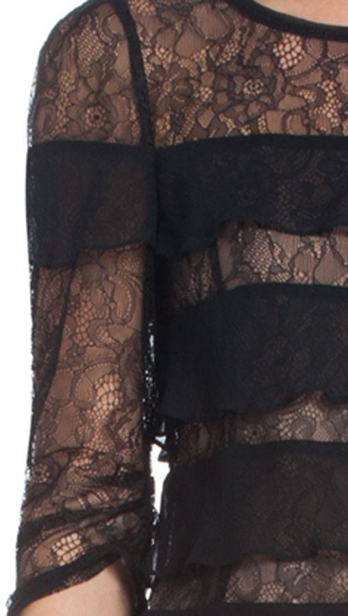 BCBGMAXAZRIA Marae Tiered Lace Top