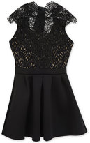Rare Editions Lace Fit & Flare Party Dress, Big Girls (7-16)