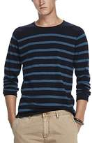 Scotch & Soda Men's Crewneck Pullover in Cashmere Blend Quality with Rolled Edge Jumper