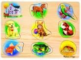 Melissa & Doug Pets Sound Puzzle - Wooden Peg Puzzle With Sound Effects (8pc) 9pc