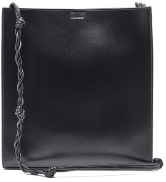 Jil Sander Tangle Medium Braided-strap Leather Shoulder Bag - Black