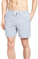 Original Penguin Men's Seersucker Stripe Swim Trunks