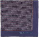 Salvatore Ferragamo Men's Interlocking-Ring-Print Silk Pocket Square