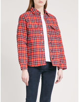 Zadig & Voltaire Timba check padded jacket