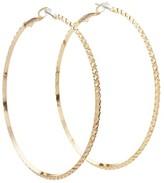 GUESS Diamond Cut Hoop Earring (Gold) Earring