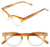 Eyebobs Men's Waylaid 46Mm Reading Glasses - Amber And Crystal