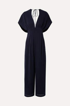 Mother of Pearl Sky Open-back Lyocell Jumpsuit - Navy