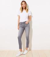 LOFT Curvy Skinny Crop Jeans in Staple Grey Wash