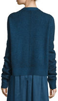 The Row Rienda Extended-Sleeve Distressed Sweater