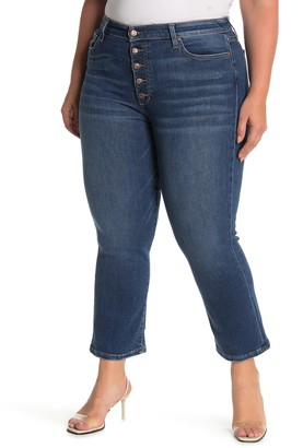 Joe's Jeans The Callie High Rise Button Bootcut Crop Jeans