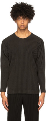 Homme Plissé Issey Miyake Grey Surface Long Sleeve T-Shirt