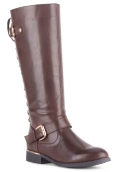 Wanted Women's Lounge Lace-Back Riding Boots Women's Shoes