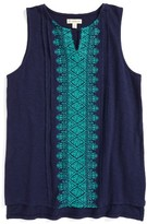 Girl's Tucker + Tate Embroidered Tank