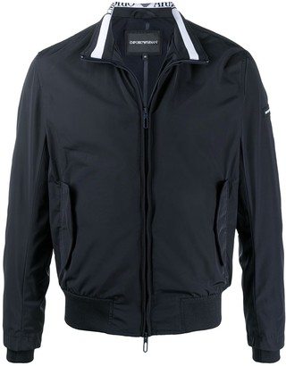 Emporio Armani Ribbed Trim Track Jacket