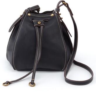 Hobo Cinder Drawstring Leather Crossbody Bag