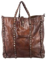 Campomaggi Studded Distressed Leather Satchel