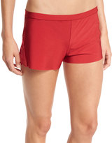 Commando Love-and-Lust Lace-Inset Boxer Shorts, Ruby Red