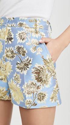 No.21 Metallic Floral Shorts