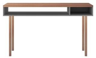 Manhattan Comfort Windsor Modern 2 Shelf Console Accent Entryway Table