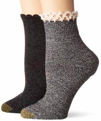 Gold Toe Women's Homespun Lace Socks 2 Pairs