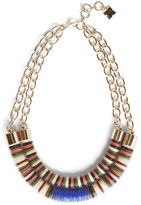 BCBGMAXAZRIA Dual Beaded Chain Tribal Necklace