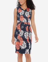 The Limited Printed Pleated Sheath Dress