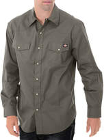 Dickies Long Sleeve Western Twill Snap Front Shirt