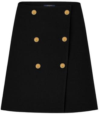 Louis Vuitton Wool And Silk Button Skirt