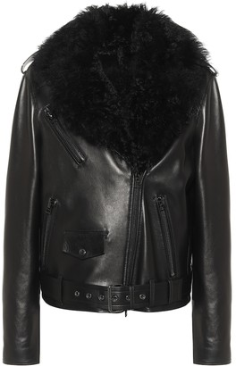 Tom Ford Shearling-trimmed leather jacket