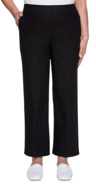 Alfred Dunner Petite Checkmate Denim Pull-On Jeans