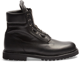 Balmain Leather lace-up boots