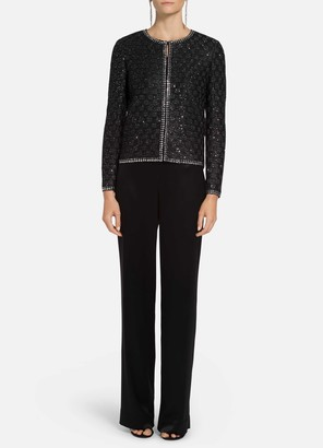 St. John Sequined Couture Basketweave Knit Jacket