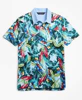 Brooks Brothers Original Fit Bold Tropical Print Polo Shirt