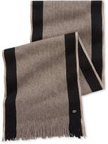 HUGO BOSS Men's Fadon Side Stripe Scarf