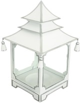 The Well Appointed House White and Silver Medium Pagoda Candleholder