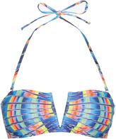Mara Hoffman Flight Azure-print bandeau bikini top
