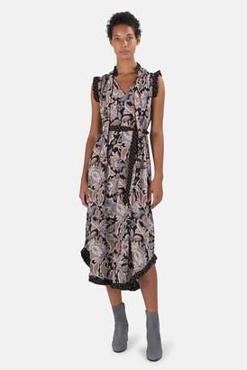 Zimmermann Black Jacobean Ladybeetle Flutter Dress