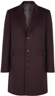 Paul Smith Burgundy wool and cashmere-blend coat