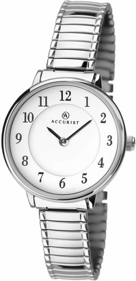 Accurist Watches for Women 8138 with Expanding Bracelet Easy Read Clear Full Figure Dial Japanese Quartz 2 Year Guarantee