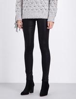 J Brand Super-skinny mid-rise waxed jeans