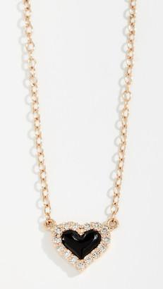 Alison Lou 14k Diamond Heart Necklace