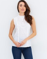 Dorothy Perkins Sleeveless Broderie Top
