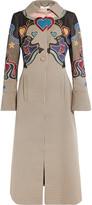 Mary Katrantzou Oliver embroidered houndstooth coat