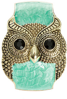 Wet Seal WetSeal Turquoise Marble Owl Cuff Coral