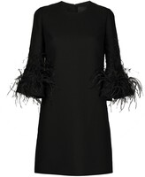 Valentino Feather Detail Shift Dress